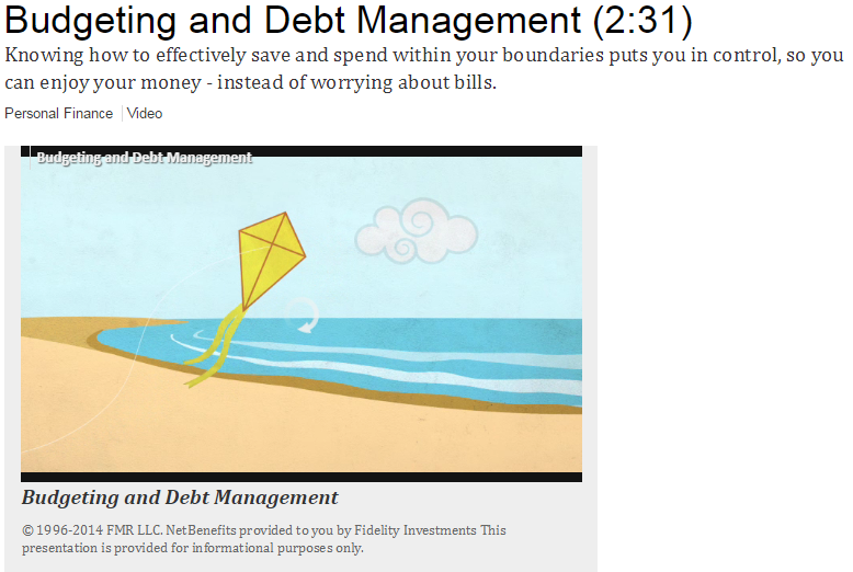 Fidelity Budgeting and Debt